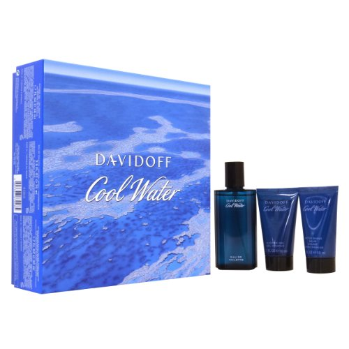 Davidoff Coolwater <strong>Gift Set< strong> (75ml EDT + 50ml Shower Gel + 50ml After Shave Balm)