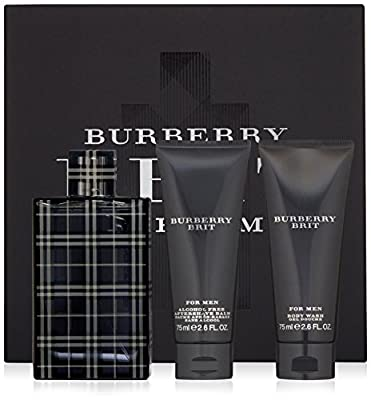 BURBERRY Brit for Men Eau de Toilette Gift Set (Alcohol-Free Aftershave Balm Plus Body Wash)