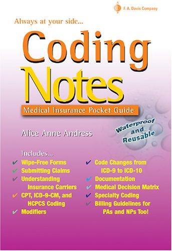 Coding Notes: Medical Insurance Pocket Guide (Davis's Notes)