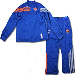 Josh Harrellson Uniform - NY Knicks Game Worn #1 Uniform (Orange Long Sleeve Shirt...
