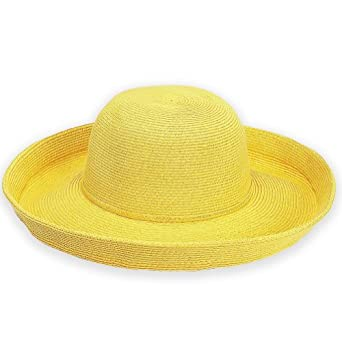 Tropical Classics Hat, Crushable, Packable with 3 Inch Brim, Yellow Color