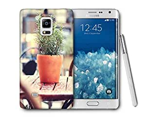Snoogg Small Plant Printed Protective Phone Back Case Cover For Samsung Galaxy NOTE EDGE