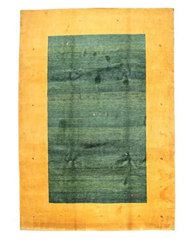 Bashian Hand Knotted Gabbeh Rug, Green, 9' x 12' 7