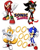 Sonic the Hedgehog Tails, Knuckles, and Shadow Removable Wall Stickers Set