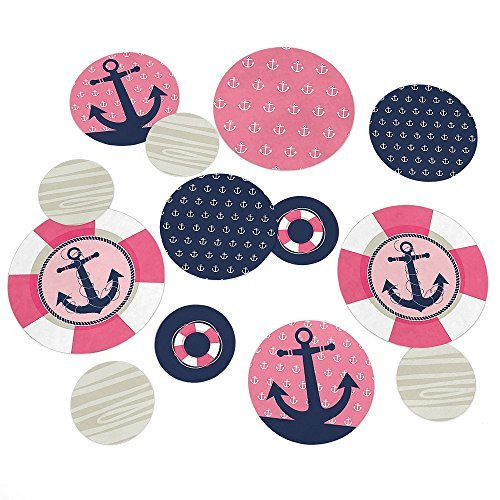 Ahoy - Nautical Girl - Party Table Confetti Set - 27 Count