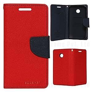 "Kshiv Enterprises Mercury Goospery Fancy Diary Wallet Case Cover for Asus Zenfone Go ZC500TG (5.0"") (Red)"