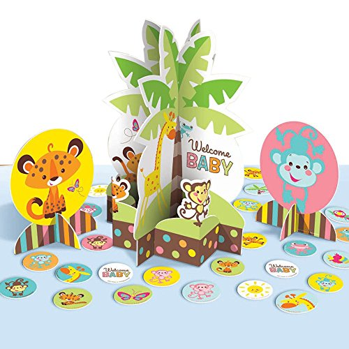 1 X Fisher Price Table Decorating Kit Baby Shower Monkey Jun
