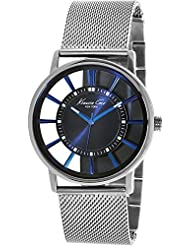 Kenneth Cole Silver Analog Dial Men's Watch IKC9207