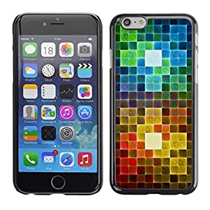Omega Covers - Snap on Hard Back Case Cover Shell FOR Iphone 6/6S (4.7 INCH) - Polygon Rainbow Pattern Art