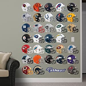 NFL Helmet Collection Wall Graphics by Fathead