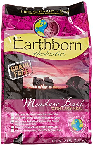 Earthborn Holistic 5-Pack Meadow Feast Natural Grain-Free Dry Dog Food, 6-Pound Bag