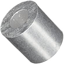 "Round Spacer, 2011 Aluminum, Plain Finish, #6 Screw Size, 1/4"" Length (Pack of 10)"