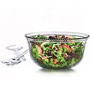 Anchor Hocking Olivia 3-Piece Salad Bowl Set with Serving Fork and Spoon by Anchor Hocking