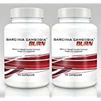 Garcinia Cambogia Burn (2 Bottles) - Clinical Strength Garcinia Cambogia Weight Loss Supplement. 750mg per Capsule (50% HCA) - 60 Capsules per Bottle