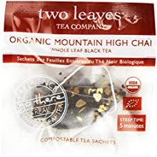 Two Leaves Tea Company Organic Mountain High Chai Black Tea 100-Count
