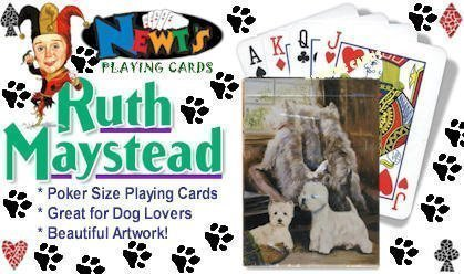 Best Friends Playing Cards, by Ruth Maystead - West Highland White Terriers - 1