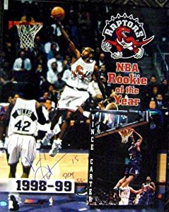 Vince Carter autographed 16x20 Photo ROY 99 (Toronto Raptors) Rookie of the Year by Autograph Warehouse