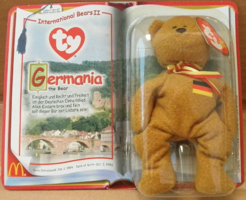 1 X TY Teenie Beanie Babies Germania the Bear Stuffed Animal Plush Toy - 1