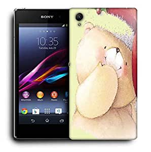 Snoogg Christmas Teddy Bear Printed Protective Phone Back Case Cover For Sony Xperia Z5