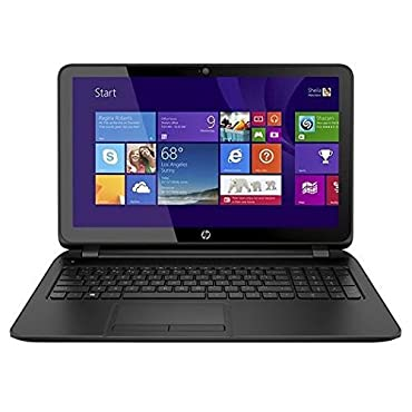 HP 15-f111DX 15.6 Touch-Screen Laptop Computer - AMD Quad-Core A8-6410 Processor 2.0GHz, 8GB RAM, 750GB HD, SuperMulti DVD burner, Windows 8.1, Black