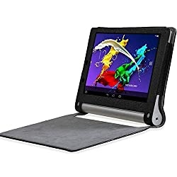 SPL PU Leather Book Stand Cover for Lenovo Yoga 2 8-inch Tablet -Black