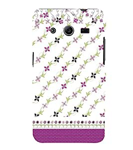 Floral Design Cute Fashion 3D Hard Polycarbonate Designer Back Case Cover for Samsung Galaxy Core 2 G355H :: Samsung Galaxy Core II :: Samsung Galaxy Core 2 Dual