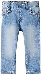 Nauti Nati Baby Girls Jeans (NAW15-9356-12M_Lt Blue_6-9 months)