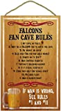 NFL Fan Cave Rules Wood Signs