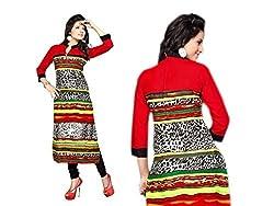 RR Fashion Women's Cotton KURTI (RRF3019_MULTICOLOUR)