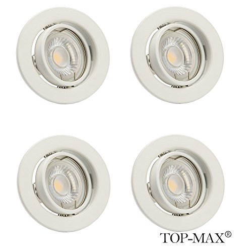 top-max-pack-of-4-recessed-spotlight-ceiling-lighting-downlight-led-gu10-fitting-mains-voltage-white