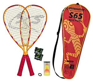 Speedminton Set S65 in Fullcover 2013, gelb / rot, 400061