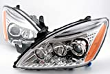 Mitsubishi Lancer Driver and Passenger Side (Pair) Euro Chrome Projector Headlights