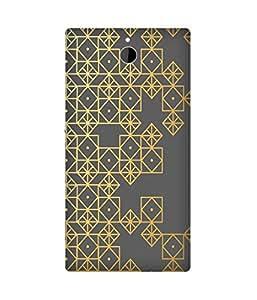 Golden Pattern Sony Xperia Z2 Case
