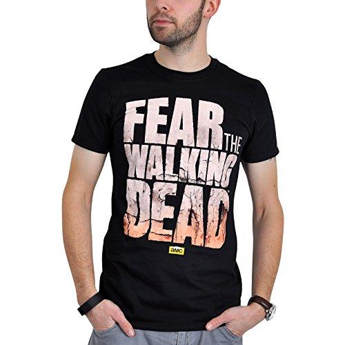 Fear the Walking Dead - T-Shirt con logo della serie TV horror - Cotone - Nero - S