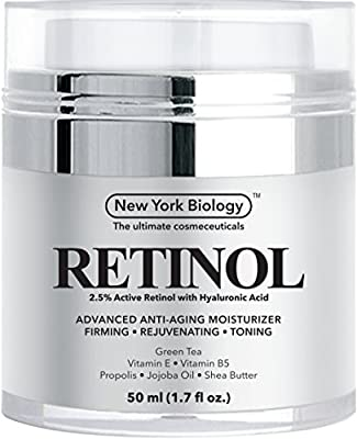 Retinol Cream Moisturizer with Hyaluronic Acid - Daily Moisturizing Cream Helps Fight Signs of Aging and Get Rid of Wrinkles from Face and Eye Area 1.7 fl oz