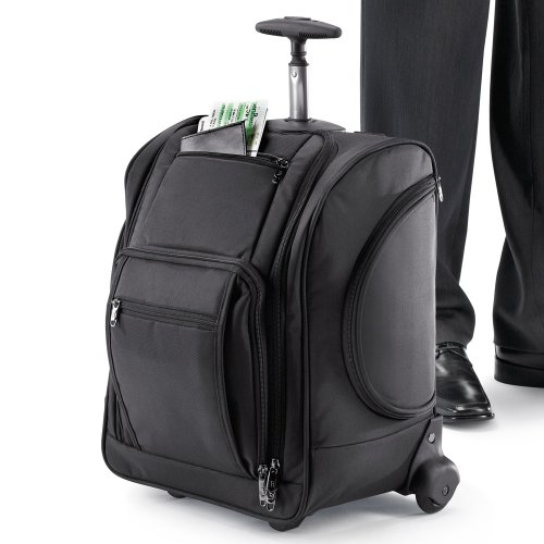 Compact Rolling Traveler with Removable Laptop Sleeve