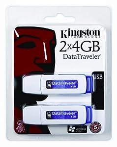 Kingston DataTraveler I - 4 GB USB 2.0 Flash Drive DTI/4GB-2P - 2 Pack (Purple)