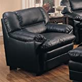 Harper Chair in Black Leather by Coaster Furniture
