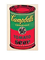 Artopweb Panel Decorativo Warhol Campbell's Soup Can 1965 - 60x90 cm Bordo Nero
