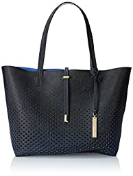 Vince Camuto Leila Travel Tote, Black/Lapis Blue, One Size