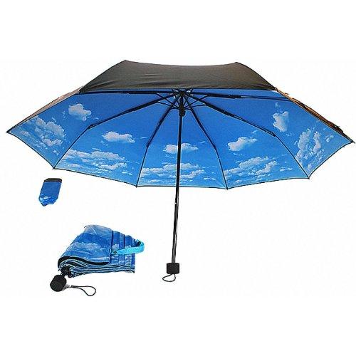 爽快気分! スカイアンブレラ 折り畳み傘 雨の日も爽快・快適! (手動開閉タイプ) Collapsible Sky Umbrella