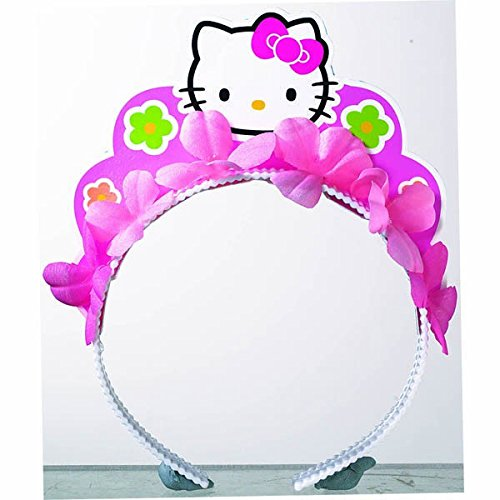 Amscan-Adorable-Hello-Kitty-Balloon-Dreams-Tiara-Birthday-Party-Favors-1-Piece-5-x-3-Pink