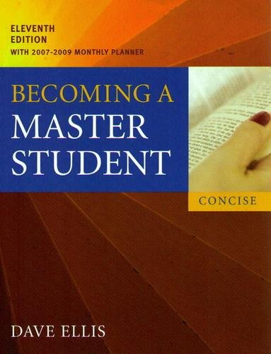 Becoming a Master Student with Understanding Plagiarism:a Student Guide to Writing Your Own Work (Concise with 2007-2009