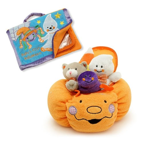 Baby's My First Pumpkin Halloween Play Set & Photo Album Gift COMBO