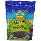 Sunridge Farms Organic Dried Apricots- 8-Ounce Bags (Pack of 12) ~ SunRidge Farms