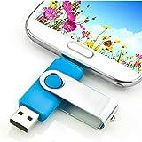 SKEDA NEW U-Disk Micro USB Flash Drive for Andorid Smartphone Tablet PC Blue 64G (4G)