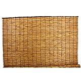 【すだれ サンシェード】日よけ 目隠し 室内 室外 兼用 天然黒竹使用 天然よし いぶし焼き 天津すだれ 132×220cm (A860)