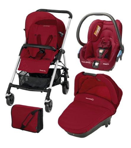 Bébé Confort - Passeggino trio Modulare Streety Plus, Raspberry Red
