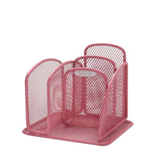 Safco Products Onyx Mesh Mini Desk Organizer Pink 5901pi