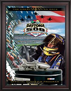 NASCAR Framed 36 x 48 Daytona 500 Program Print Race Year: 46th Annual - 2004 by Mounted Memories